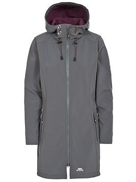 Trespass Kitsy Long Length Softshell Jacket - Carbon