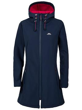 Trespass Kitsy Long Length Softshell Jacket - Navy