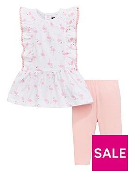 mini-v-by-very-baby-girls-flamingo-frill-tunic-amp-legging-set