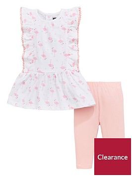 mini-v-by-very-flamingo-frill-tunic-amp-legging-set-whitepink