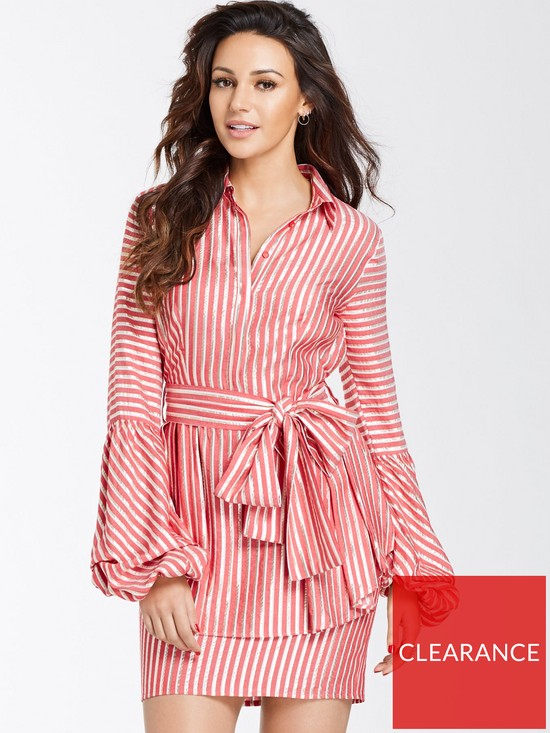 Michelle Keegan Tie Waist Shirt Dress  4154e996e