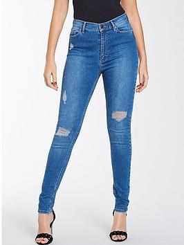 michelle-keegan-mid-wash-ripped-skinny-jean