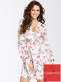 michelle-keegan-printed-tiered-skirt-dress