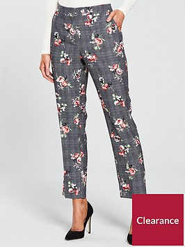 v-by-very-petite-check-amp-floral-slim-leg-trouser
