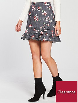 v-by-very-petite-check-amp-floral-mini-skirt
