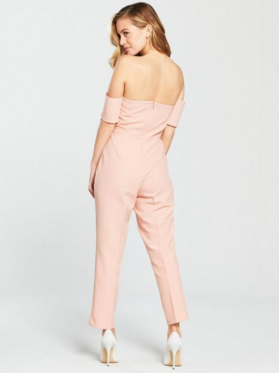 f9de0ddca4 ... V by Very Petite PETITE Bardot Sweetheart Neckline Jumpsuit - Blush. 3  people have looked at this in the last couple of hrs.