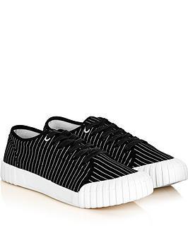 good-news-mens-hurler-low-stripe-trainersnbsp--black