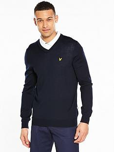 lyle-scott-golfnbspbowmount-v-neck-jumper