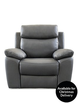 new-edison-luxury-faux-leather-manual-recliner-armchair