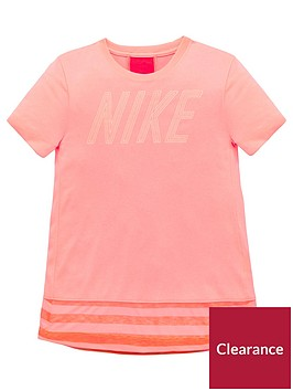 nike-older-girls-short-sleeve-dry-top-pink