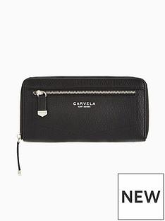 carvela-alis-zip-around-purse-black