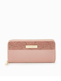 carvela-alis-zip-colourblock-purse-pink