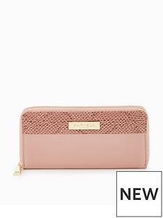 carvela-alis-zip-colourblock-purse-pink