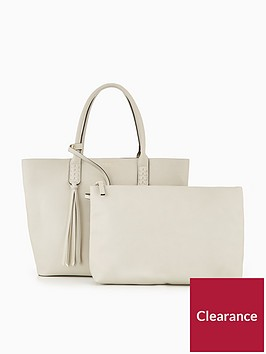 carvela-selena-plait-front-tote-bag-grey