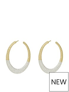 accessorize-mixed-plate-hammered-hoop-earringsnbsp