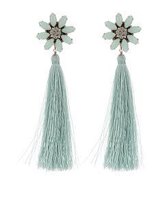 accessorize-statement-flower-tassel-earrings