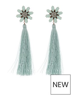 accessorize-statement-flower-tassel-earrings