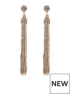 accessorize-beaded-tassel-statement-rose-gold-earrings