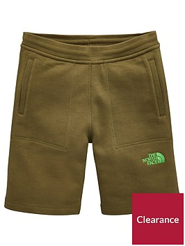 the-north-face-youth-fleece-short-olivenbsp