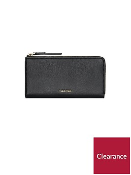 calvin-klein-downtown-large-ziparound-purse-black