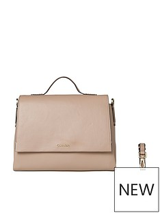 calvin-klein-nude-top-handle-satchel-bag