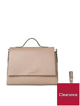 calvin-klein-nude-top-handle-satchel-bag