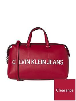 calvin-klein-sculpted-barrel-red-bag