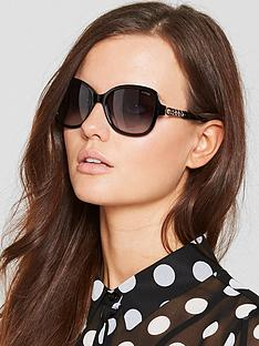 guess-chain-detail-sunglasses-black