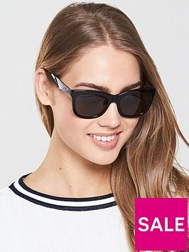 swarovski-oversized-logo-arm-sunglasses-black