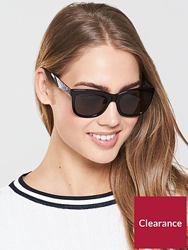 swarovski-oversized-logo-arm-sunglasses-black