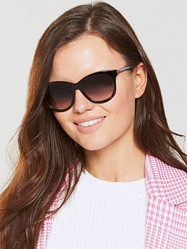 Swarovski Sparkle Arm Sunglasses - Black