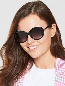 Longchamp Oval Sunglasses - Black