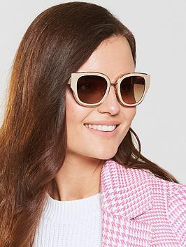 Diane Von Furstenberg Taupe Sunglasses
