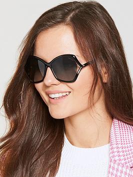 Tom Ford Oversized Gradient Sunglasses - Black