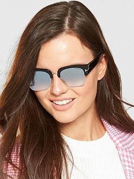 Tom Ford Dakota Mirror Lens Sunglasses - Black