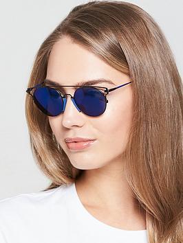 Calvin Klein Brow Bar Sunglasses - Blue