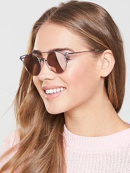 Calvin Klein Brow Bar Sunglasses - Pink