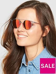 calvin-klein-brow-bar-sunglasses-red