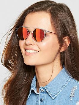Calvin Klein Brow Bar Sunglasses - Red