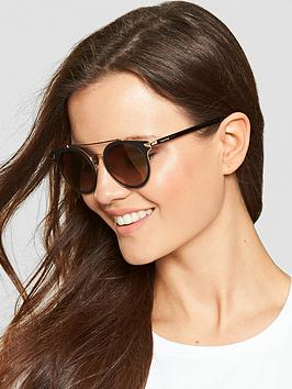 Calvin Klein Brow Bar Sunglasses - Black