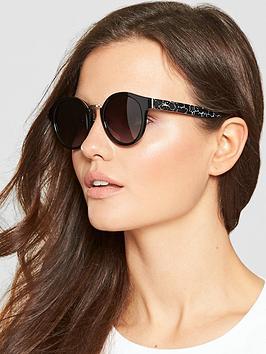 Longchamp Brow Bar Sunglasses - Black