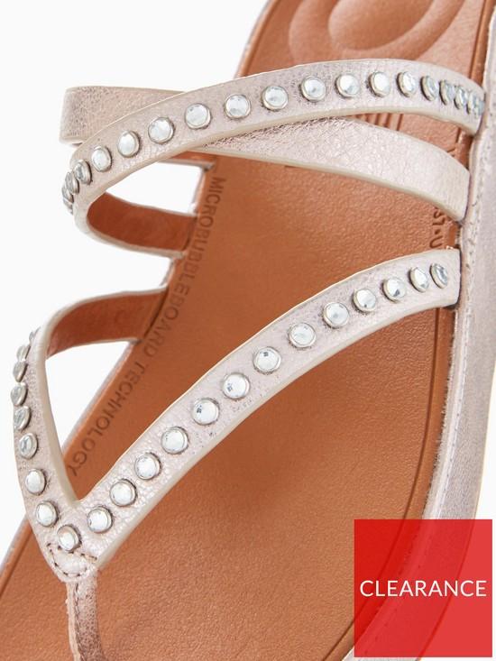 4b3c3c793 ... FitFlop Linny Criss Cross Toe Thong Sandal - Bronze Metallic. View  larger