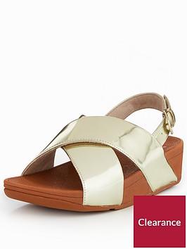 fitflop-lulu-mirror-cross-back-strap-sandal-gold