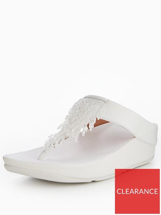 fbbba938f7dabf FitFlop Rumba Toe Thong Sandal - White