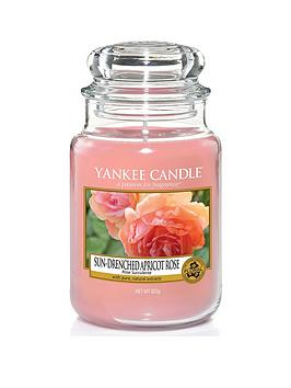 Yankee Candle Sun-Drenched Apricot Rose Large Classic Jar Candle thumbnail