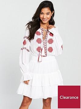 v-by-very-embroidered-tie-neck-dress-white