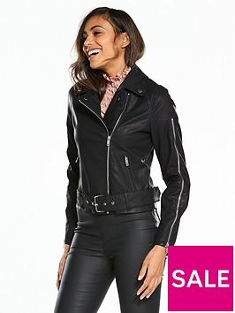 lost-ink-zip-sleeve-pu-biker-jacket-black