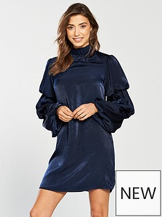 lost-ink-layered-sleeve-shift-dress