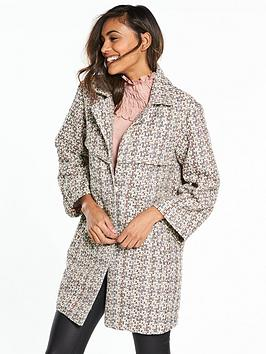 Lost Ink Bright Weave Waisted Coat