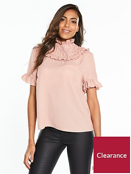 lost-ink-ruffle-neck-blouse-nude